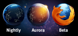 aurora nighly beta logos 272x125 - Firefox 推出名為 Aurora Channel 讓你更快取得新的開發版 (類似 Chrome Dev Channel)