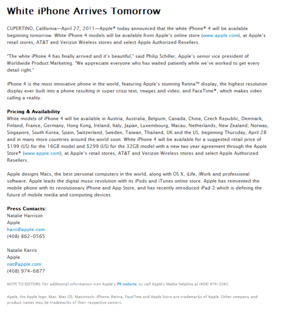 white-iphone-4-press-release