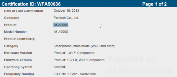 pantech-vega-im-a900s-passed-wifi-certification