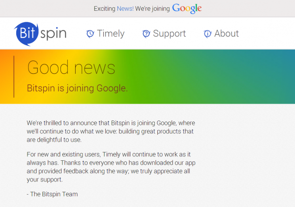 bitspin-timely-android-apps-join-google