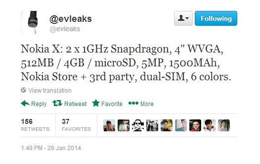 nokia-x-spec-confirmed-by-evleaks