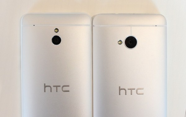 上圖是 HTC One 及 HTC One mini