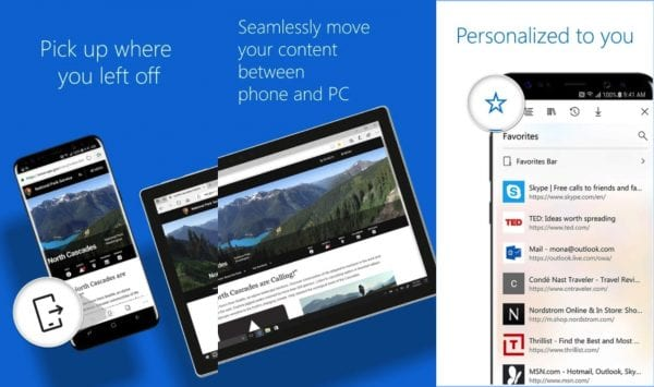 microsoft edge android and ios is available 600x355 - Microsoft Edge 正式版登陸 Android 及 iOS
